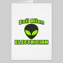 Evil Alien Electrician Cards