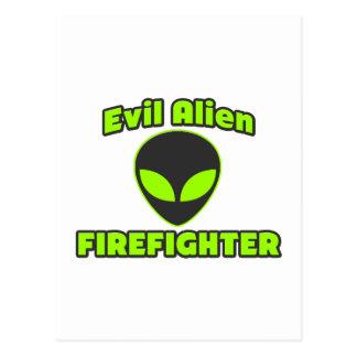 Evil Alien Firefighter Post Cards