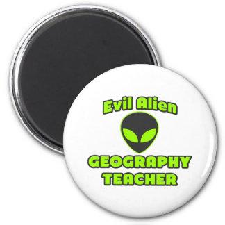 Evil Alien Geography Teacher Fridge Magnets