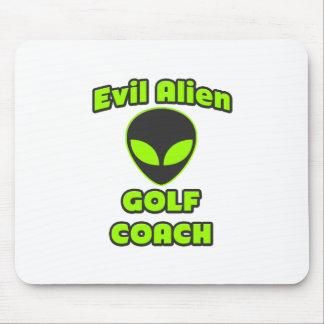 Evil Alien Golf Coach Mouse Pad