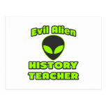 Evil Alien History Teacher Postcard
