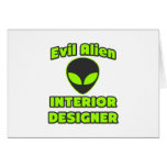 Evil Alien Interior Designer Cards