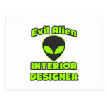 Evil Alien Interior Designer Post Cards