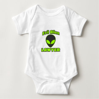 Evil Alien Lawyer Baby Bodysuit