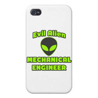 Evil Alien Mechanical Engineer iPhone 4 Covers