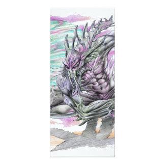 Evil Alien Monster Futuristic Sci-Fi by Al Rio Card