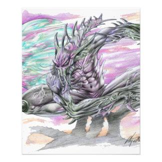 Evil Alien Monster Futuristic Sci-Fi by Al Rio Personalized Flyer