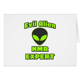 Evil Alien NMR Expert Card