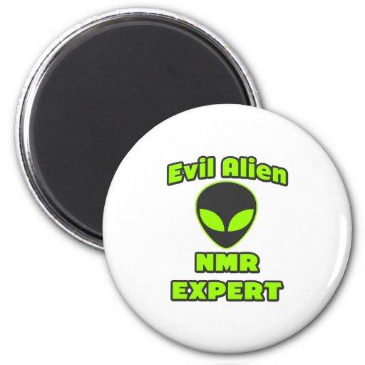 Evil Alien NMR Expert Refrigerator Magnets