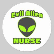 Evil Alien Nurse Sticker