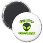 Evil Alien Physicist Fridge Magnet