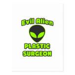 Evil Alien Plastic Surgeon Post Cards