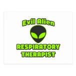 Evil Alien Respiratory Therapist Postcard