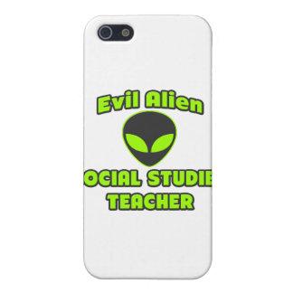 Evil Alien Social Studies Teacher iPhone 5 Cases