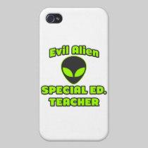Evil Alien Special Ed. Teacher iPhone 4 Case
