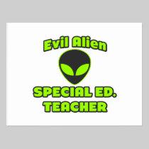 Evil Alien Special Ed. Teacher Post Card