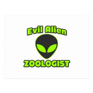 Evil Alien Zoologist Post Card