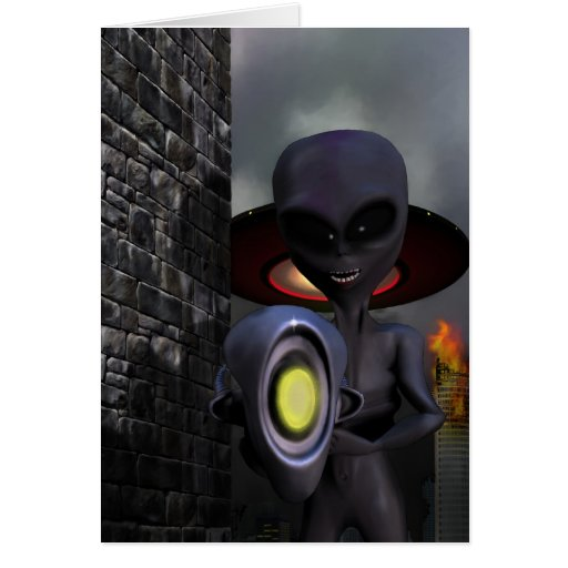 Evil Aliens Card