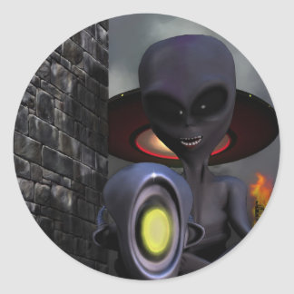 Evil Aliens Sticker