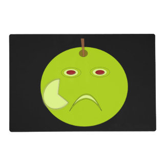 Evil Apple with Scar Halloween Custom Placemat