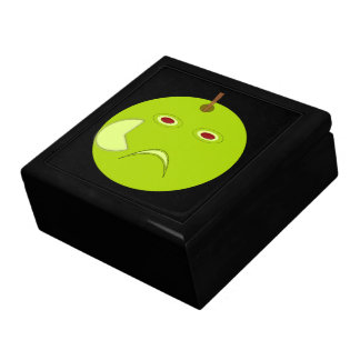 Evil Apple with Scar Halloween Gift Box