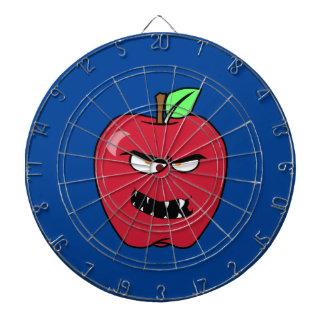 Evil Bad Apple Dartboard With Darts