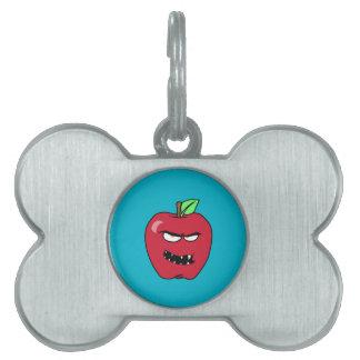 Evil Bad Apple Pet Tag