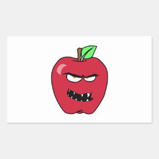 Evil Bad Apple Rectangular Sticker