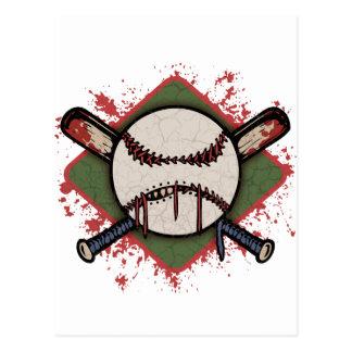 Evil Ball & Cross Bats Postcard