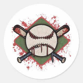 Evil Ball & Cross Bats Sticker