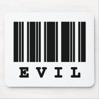 evil barcode design mouse pad