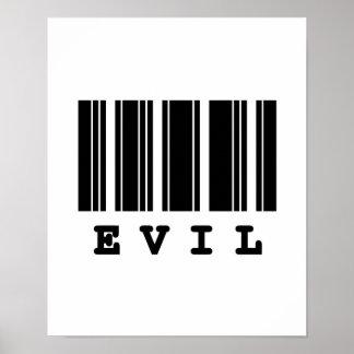 evil barcode design poster