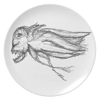 Evil bird party plates