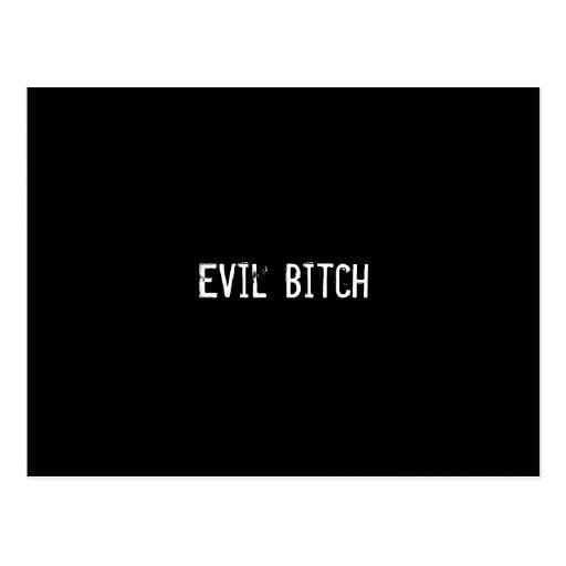Evil Bitch Postcard