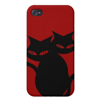 Evil Black Cas Red iPhone 4 Case
