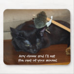 Evil Black Cat Funny Mousepad