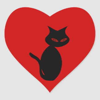 Evil Black Cat Sticker