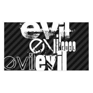 Evil; Black & Dark Gray Stripes Double-Sided Standard Business Cards (Pack Of 100)