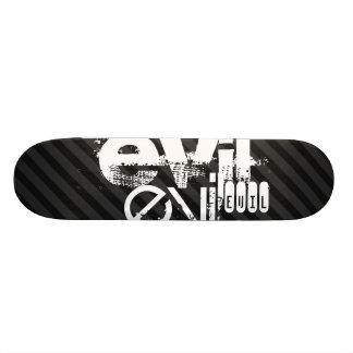Evil; Black & Dark Gray Stripes Skateboard