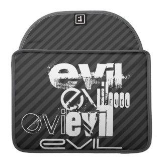 Evil; Black & Dark Gray Stripes Sleeve For MacBook Pro