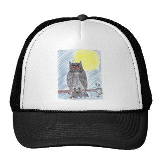 Evil Black Owl Trucker Hat