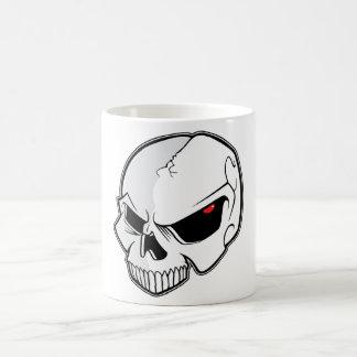 Evil Blood Red Eyeballs Skull Coffee Mug