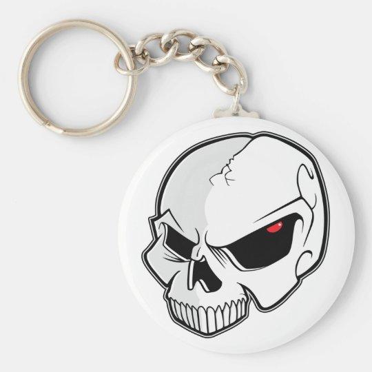 Evil Blood Red Eyeballs Skull Keychain