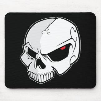 Evil Blood Red Eyeballs Skull Mouse Pad