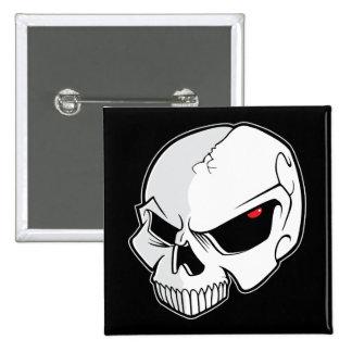 Evil Blood Red Eyeballs Skull Pinback Button