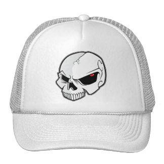 Evil Blood Red Eyeballs Skull Trucker Hat