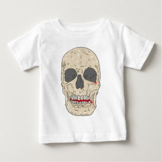 Evil, bloody and ravaged skull baby T-Shirt