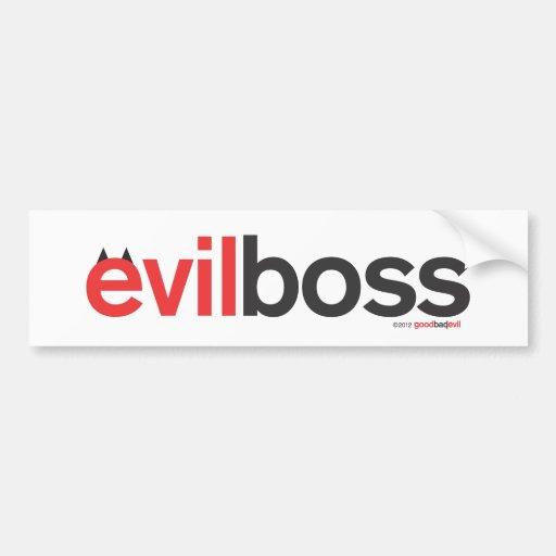 evil boss bumper sticker