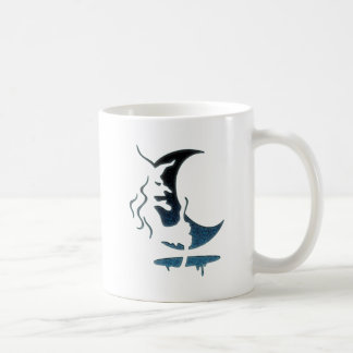 Evil Brewing Witch -Black/Blue Spot Premium Design Coffee Mug