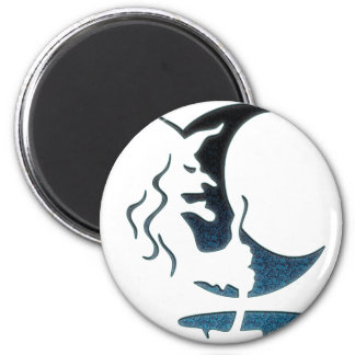 Evil Brewing Witch -Black/Blue Spot Premium Design Magnet